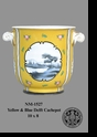 Jeanne Reed's - Yellow & Blue Delft Cachepot