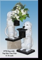 Jeanne Reed's - Dog Pair with Top Hat Vase