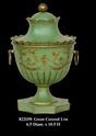 Jeanne Reed's - Green Covered Urn