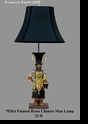 Jeanne Reed's - Metal Lamp - Chinese Man