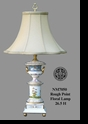 "Jeanne Reed's - ""Rough Point"" Floral Lamp"