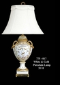 Jeanne Reed's - White & Gold Porcelain Lamp