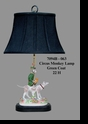 Jeanne Reed's - Circus Monkey Lamp - green coat