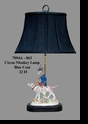 Jeanne Reed's - Circus Monkey Lamp - blue coat