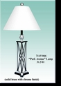 "Jeanne Reed's - ""Park Avenue"" Lamp/white shade"