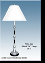 "Jeanne Reed's - ""Black Tie"" Lamp/white shade"