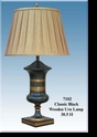 Jeanne Reed's - Classic Black Wooden Urn Lamp