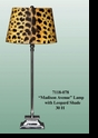 "Jeanne Reed's - ""Madison Avenue"" Lamp with Leopard Shade"