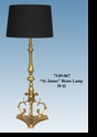 "Jeanne Reed's - ""St. James"" Brass Lamp"