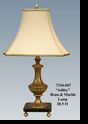 "Jeanne Reed's - ""Ashley"" Brass & Marble Lamp"