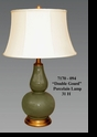 "Jeanne Reed's - ""Double Gourd"" Porcelain Lamp"