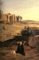 Art - Oil Paintings - Masterpiece #4021 - Jean Baptiste Camille Corot - Hagar in the Wilderness - Museum Quality