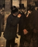 Art - Oil Paintings - Masterpiece #4101 - Edgar Degas - At the Stock Exchange - Museum Quality