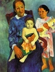 Art - Oil Paintings - Masterpiece #4125 - Paul Gauguin - Tahitian Woman with Children 4 - Gallery Quality