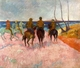 Art - Oil Paintings - Masterpiece #4126 - Paul Gauguin - Riders on the Beach - Museum Quality