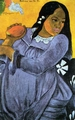 Art - Oil Paintings - Masterpiece #4127 - Paul Gauguin - Woman with Mango - Gallery Quality