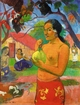 Art - Oil Paintings - Masterpiece #4129 - Paul Gauguin - Woman Holding a Fruit - Museum Quality