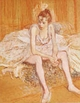 Art - Oil Paintings - Masterpiece #4185 - Henri Toulouse-Lautrec - Dancer Seated - Gallery Quality