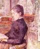 Art - Oil Paintings - Masterpiece #4189 - Henri Toulouse-Lautrec - The Reading Room at the Chateau de Malrome - Museum Quality
