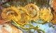 Art - Oil Paintings - Masterpiece #4200 - Vincent Van Gogh - Four Cut Sunflowers - Gallery Quality