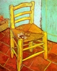 Art - Oil Paintings - Masterpiece #4208 - Vincent Van Gogh - Artist's Chair with Pipe - Museum Quality