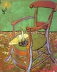 Art - Oil Paintings - Masterpiece #4209 - Vincent Van Gogh - Gauguin's Chair with Books and Candle - Museum Quality