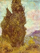 Art - Oil Paintings - Masterpiece #4214 - Vincent Van Gogh - Two Cypresses - Museum Quality