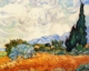 Art - Oil Paintings - Masterpiece #4228 - Vincent Van Gogh - Wheat Field With Cypresses - Gallery Quality