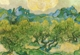 Art - Oil Paintings - Masterpiece #4246 - Vincent Van Gogh - Olive Trees with the Alpilles in the Background - Gallery Quality