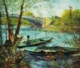 Art - Oil Paintings - Masterpiece #4250 - Vincent Van Gogh - Fishing in the Spring, Pont de Clichy - Museum Quality