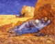 Art - Oil Paintings - Masterpiece #4251 - Vincent Van Gogh - Noon : Rest from Work - Gallery Quality