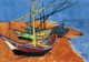 Art - Oil Paintings - Masterpiece #4260 - Vincent Van Gogh - Boats on the Beach of Saintes-Maries - Gallery Quality