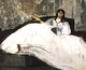 Art - Oil Paintings - Masterpiece #4279 - Edouard Manet - Bauldaire's Mistress Reclining - Gallery Quality