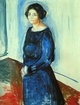 Art - Oil Paintings - Masterpiece #4321 - Edvard Munch - Woman in Blue - Gallery Quality