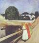 Art - Oil Paintings - Masterpiece #4325 - Edvard Munch - The Girls on the Bridge - Gallery Quality
