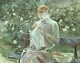 Art - Oil Paintings - Masterpiece #4330 - Berthe Morisot - Young Woman Sewing in the Garden - Gallery Quality