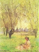 Art - Oil Paintings - Masterpiece #4364 - Claude Monet - Woman Seated Under the Willows - Gallery Quality