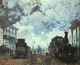 Art - Oil Paintings - Masterpiece #4368 - Claude Monet - Arrival at St Lazare Station - Gallery Quality