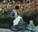 Art - Oil Paintings - Masterpiece #4378 - Claude Monet - Camille Monet and a Child in the Artist s Garden in Argenteuil - Gallery Quality