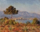Art - Oil Paintings - Masterpiece #4394 - Claude Monet - Antibes Seen from the Notre Dame Plateau - Gallery Quality