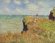 Art - Oil Paintings - Masterpiece #4397 - Claude Monet - Walk on the Cliff at Pourville - Museum Quality