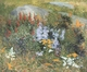 Art - Oil Paintings - Masterpiece #4413 - John Leslie Breck - Rock Garden at Giverny - Gallery Quality