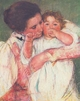 Art - Oil Paintings - Masterpiece #4430 - Mary Cassatt - Mother and Child vvv - Gallery Quality