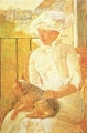 Art - Oil Paintings - Masterpiece #4433 - Mary Cassatt - Woman with Dog ghgh - Museum Quality