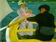 Art - Oil Paintings - Masterpiece #4438 - Mary Cassatt - The Boating Party - Museum Quality