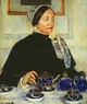 Art - Oil Paintings - Masterpiece #4443 - Mary Cassatt - Lady at the Tea Table - Gallery Quality