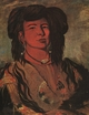 Art - Oil Paintings - Masterpiece #4452 - George Catlin - The Dakota Chief : One Horn - Museum Quality