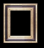 Art - Picture Frames - Oil Paintings & Watercolors - Frame Style #673 - 8x10 - Wood Tone & Gold - Wood & Gold Frames