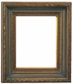 "Picture Frames 11x14 - Black and Gold Picture Frames - Frame Style #364 - 11""x14"""