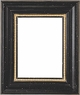 "Picture Frames 11""x14"" - Black & Gold Picture Frames - Frame Style #401 - 11""x14"""